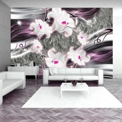 Artgeist Fototapete - Dance of charmed  lilies