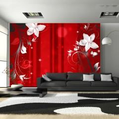 Artgeist Fototapete - Flowering scarlet
