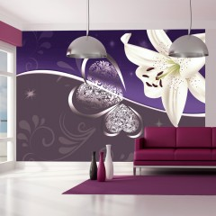 Artgeist Fototapete - Lily in shades of violet