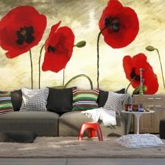 Basera® Fototapete Mohnblumenmotiv 10040906-16, Vliestapete