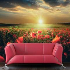 Basera® Fototapete Mohnblumenmotiv 10040903-61, Vliestapete