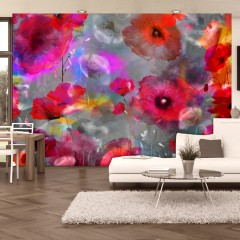Artgeist Fototapete - Painted Poppies