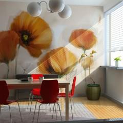 Artgeist Fototapete - poppies - vintage