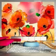 Artgeist Fototapete - Velvet poppies