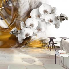 Artgeist Fototapete - Orchid on fire