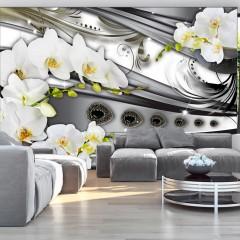 Basera® Fototapete Orchideenmotiv b-A-0088-a-b, Vliestapete
