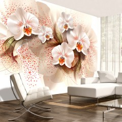 Artgeist Fototapete - Pale yellow orchids