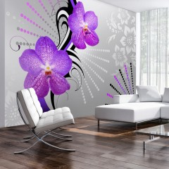 Artgeist Fototapete - Purple vibrations