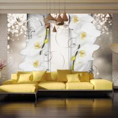 Basera® Fototapete Orchideenmotiv b-A-0165-a-b, Vliestapete