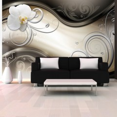 Basera® Fototapete Orchideenmotiv a-A-0081-a-a, Vliestapete