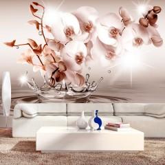 Basera® Fototapete Orchideenmotiv b-C-0081-a-b, Vliestapete