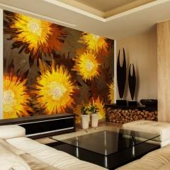 Artgeist Fototapete - Sunflower dance