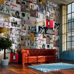 Artgeist Fototapete - Banksy - a collage