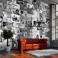 Artgeist Fototapete - Banksy - grey collage