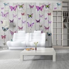 Artgeist Fototapete - Butterflies and Concrete