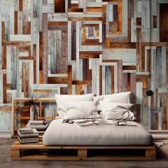 Artgeist Fototapete - Labyrinth of wooden planks