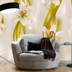 Artgeist Fototapete - Lilies avant-garde
