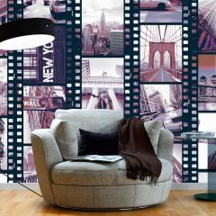 Artgeist Fototapete - NY - Urban Collage
