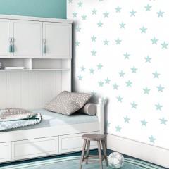 Artgeist Fototapete - Stars - Aquamarine