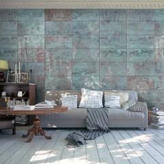 Artgeist Fototapete - Turquoise Concrete