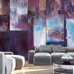Artgeist Fototapete - Winter evening - abstract