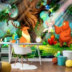 Artgeist Fototapete - Bear and Friends