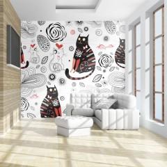 Artgeist Fototapete - Cats in love