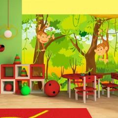 Artgeist Fototapete - Dschungel - Affen