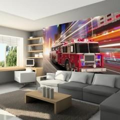Artgeist Fototapete - Fire truck