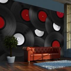 Artgeist Fototapete - Retro Style: Schallplatten