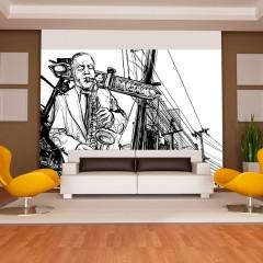 Artgeist Fototapete - Saxophone recital on Broadway