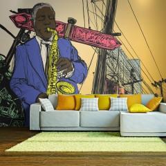 Artgeist Fototapete - Saxophonist in New York