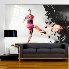 Artgeist Fototapete - Kraft des Fußballs