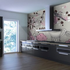 Basera® Fototapete Küchenmotiv 100405-106, Vliestapete