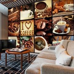 Artgeist Fototapete - Coffee - Collage