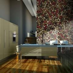 Artgeist Fototapete - Mosaik aus buntem Pfeffer