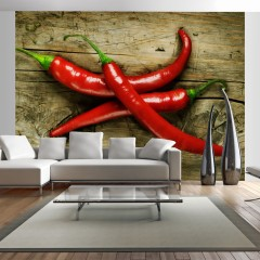 Artgeist Fototapete - Spicy chili peppers