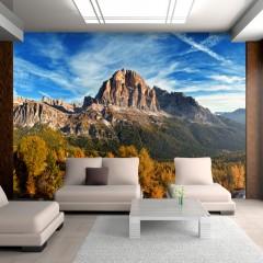 Artgeist Fototapete - Panoramablick auf die Dolomiten