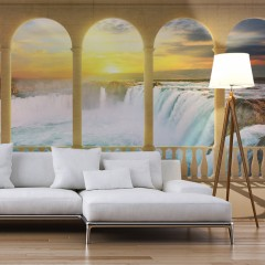 Artgeist Fototapete - Dream about Niagara Falls