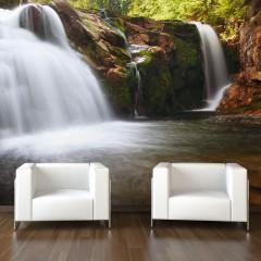 Artgeist Fototapete - Kleiner Elbe-Wasserfall