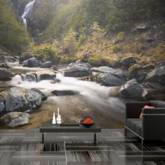 Artgeist Fototapete - Ohakune - Waterfalls in New Zealand