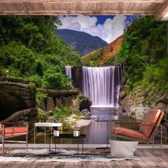 Basera® Fototapete Fluss- & Wasserfallmotiv c-B-0345-a-a, Vliestapete