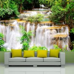 Basera® Fototapete Fluss- & Wasserfallmotiv 10110903-46, Vliestapete
