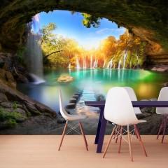 Artgeist Fototapete - Turquoise Lake