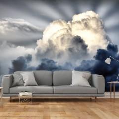 Artgeist Fototapete - Sonnenstrahlen am Himmel