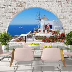 Artgeist Fototapete - Summer in Santorini