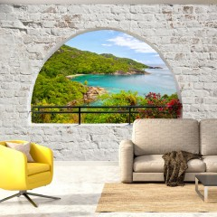 Artgeist Fototapete -  Emerald Island