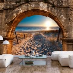 Artgeist Fototapete - Arch and Beach