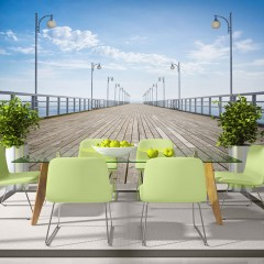 Artgeist Fototapete - Auf dem Pier