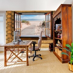 Artgeist Fototapete - Beach outside the window